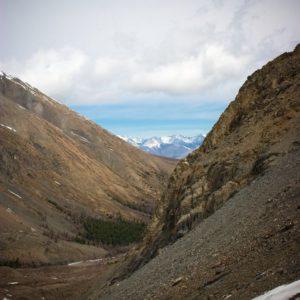 Альпинистский лагерь в долине реки Актру