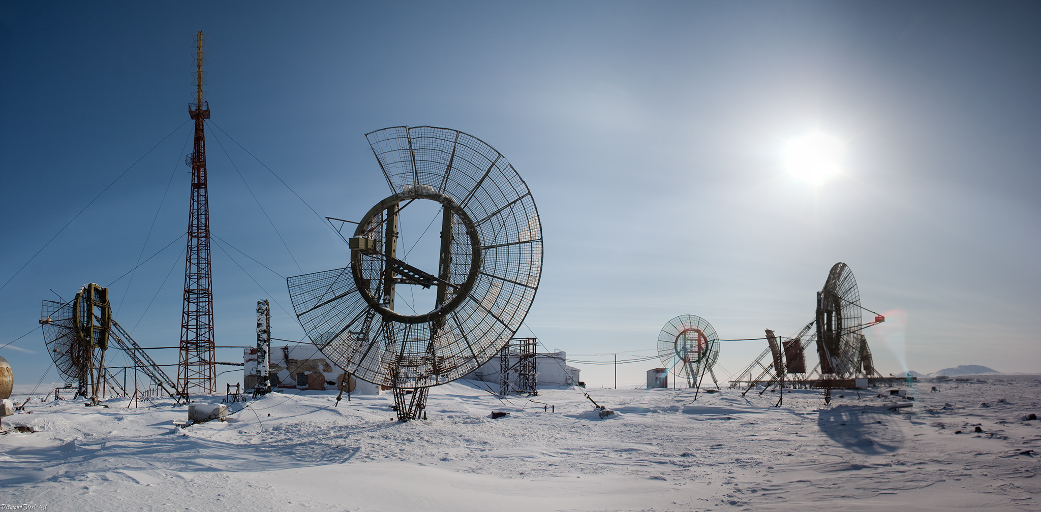 Заброшенная тропосферная станция под Анадырем
