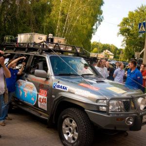 Торжественная встреча участников автопробега «World'sPIRIT. Кругосветка 4x4»