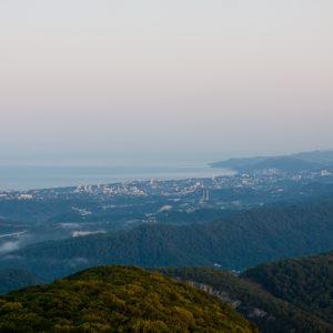 Смотровая башня Ахун – Побережье Чёрного моря. Вид со смотровой площадки