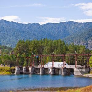 Чемальская ГЭС - Водосброс со стороны Чемальского водохранилища