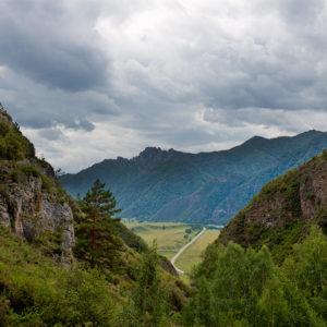 Урочище Че-Чкыш — Вид на Чемальский тракт
