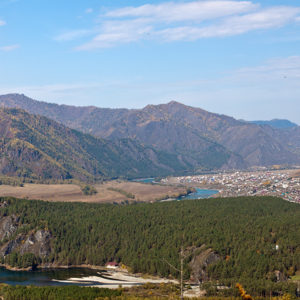 Гора Верблюд – Чемальское водохранидище и село Чемал